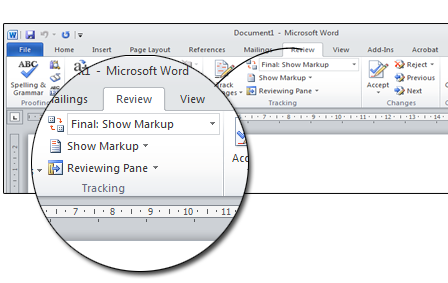 Final View a proofread document in Microsoft Word